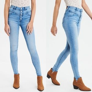 AEO Highest-Rise Seam Button Fly Stretch Jegging 6